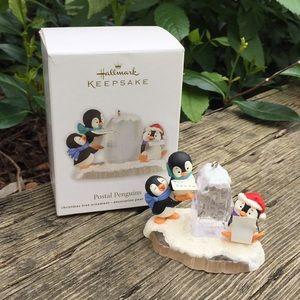 Hallmark ornament postal penguins 2012